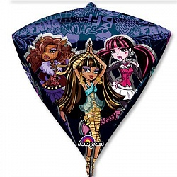 "Шар 3D АЛМАЗ 17"" Monster High"